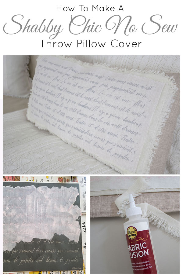 How-to-make-a-shabby-chic-throw-pillow-cover,-no-sewing-required!