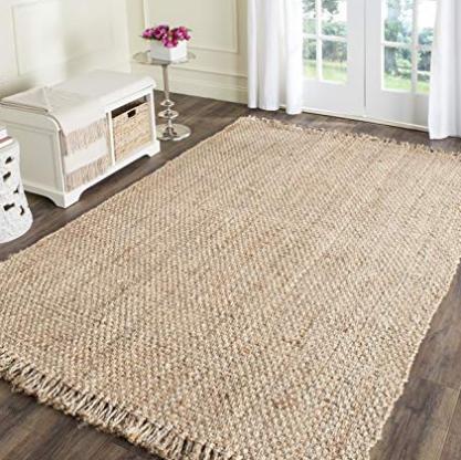 Jute area rug