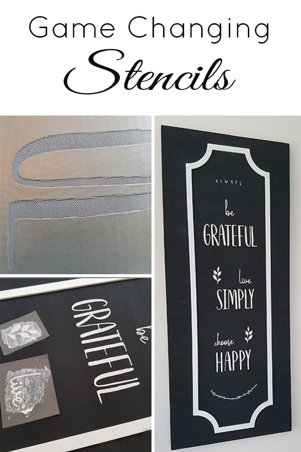 These stencils are amazing, this DIY wall decor looks hand lettered! Perfect for making your own signs!