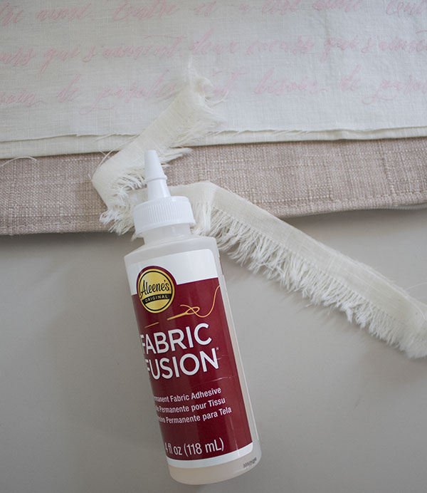 fabric fusion diy pillow covers