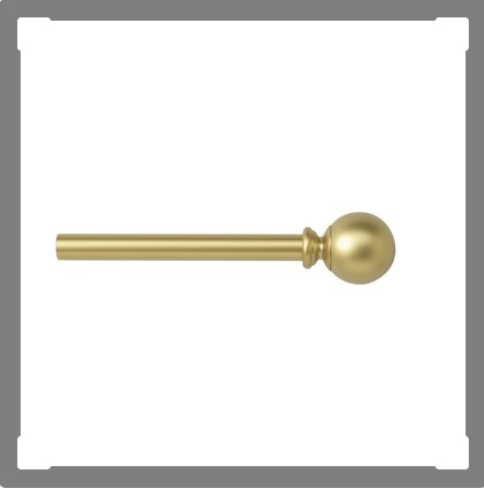 gold curtain rods under $25