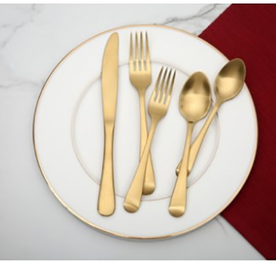 gold flatware set, 20 piece under $25