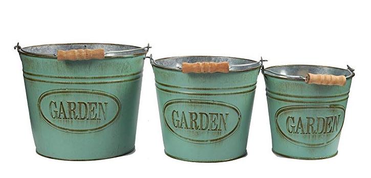 set of 3 garden buckets