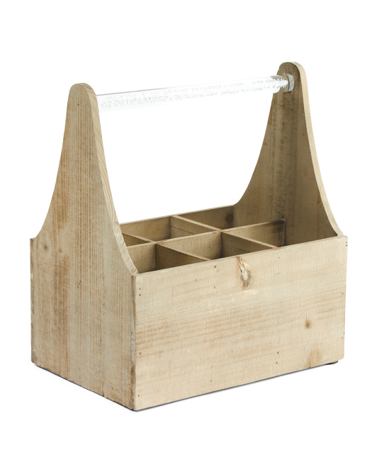 wooden crate with handle