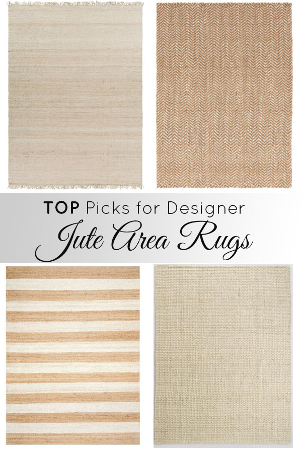 These 7 jute area rugs are classic picks for your bedroom or living room at reasonable prices!