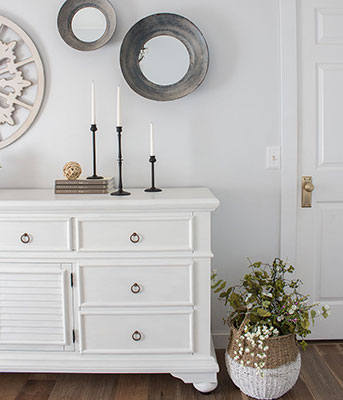 Rescue Restore White Dresser Makeover