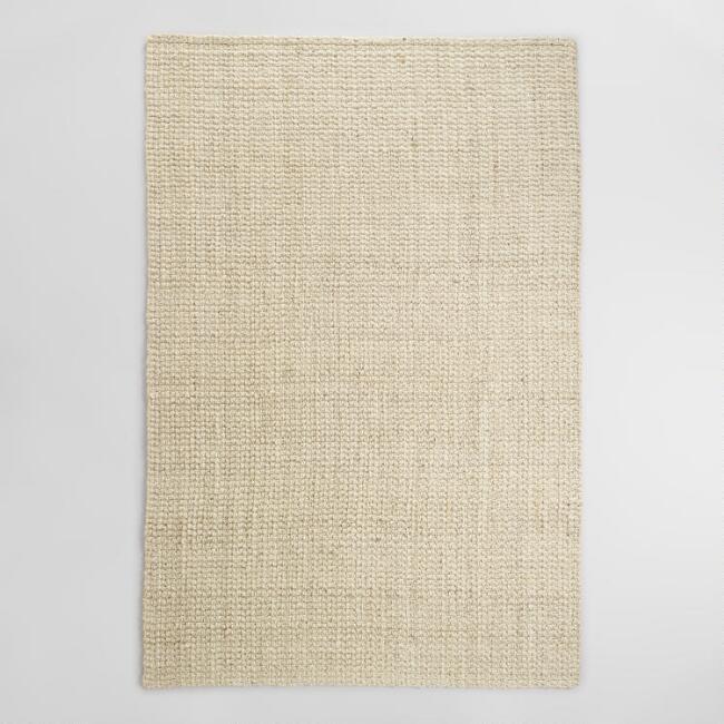 bleached jute rug