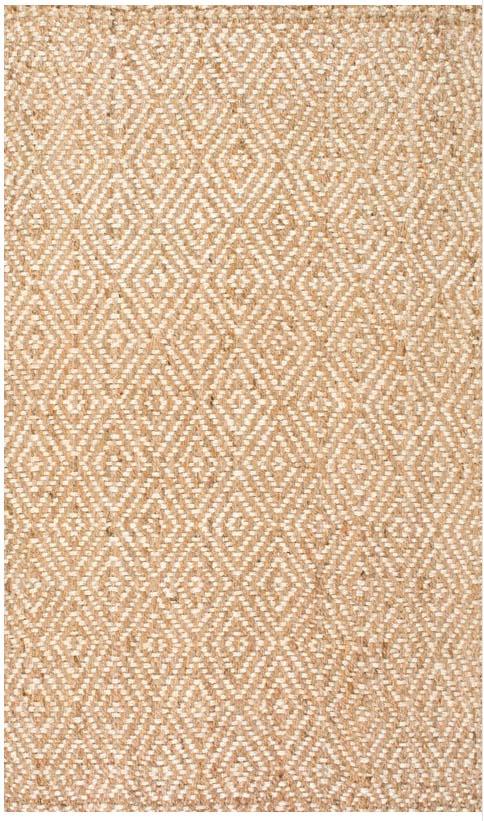 diamond pattern jute sisal area rug