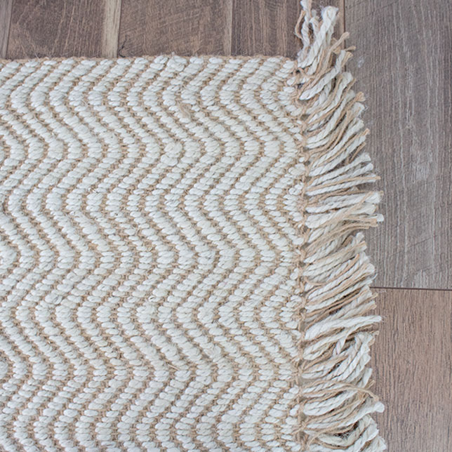 jute area rugs with cushioned rug pad that won't hard your flooring