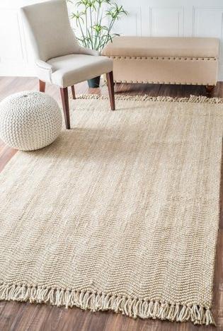 light colored herringbone area rug natural texture jute