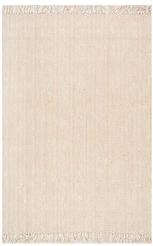 light colored herringbone jute area rug