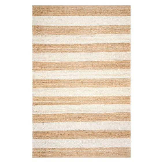 striped jute area rug
