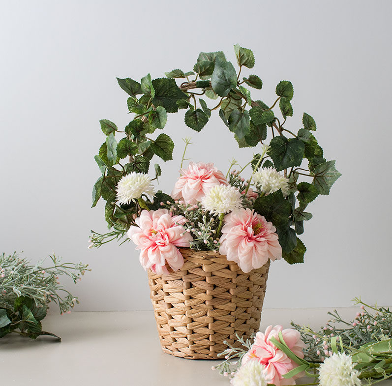 DIY Basket of Spring flowers
