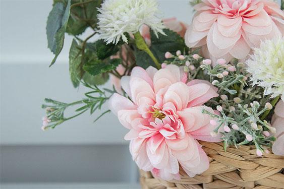DIY Spring Flower Basket