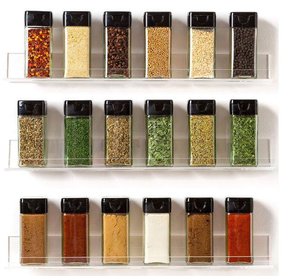 invisible wall spice racks