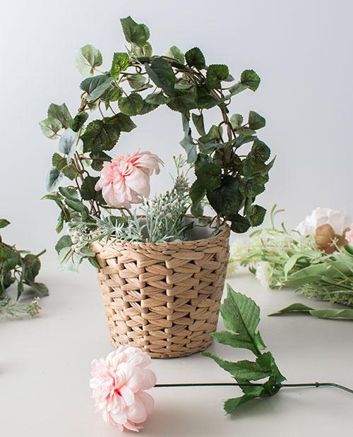DIY Easy Flower Basket