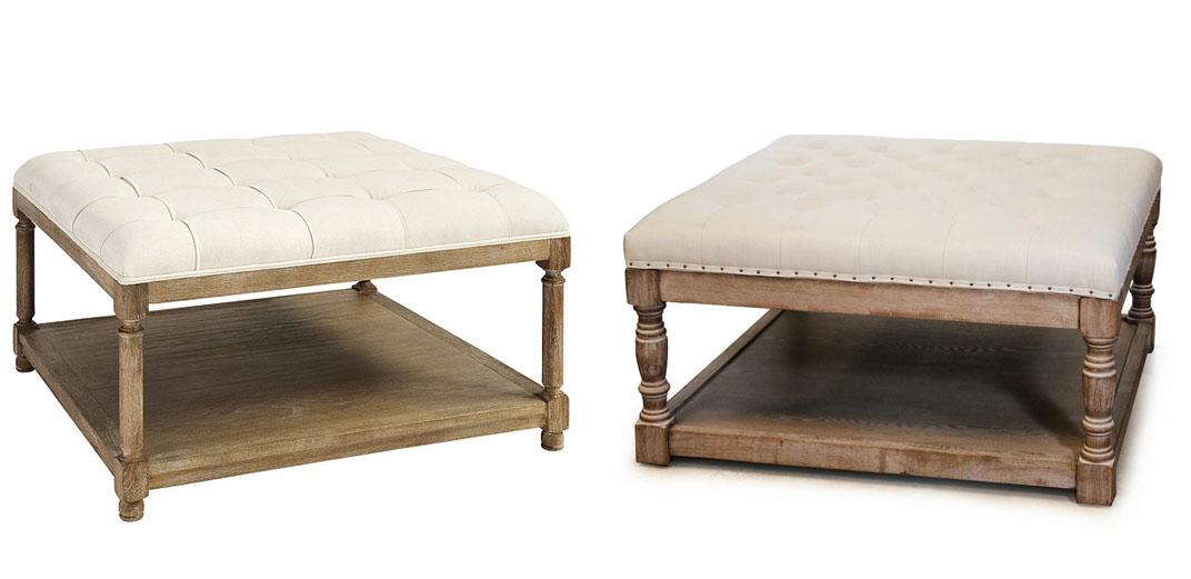 upholstered ottomans splurge vs save