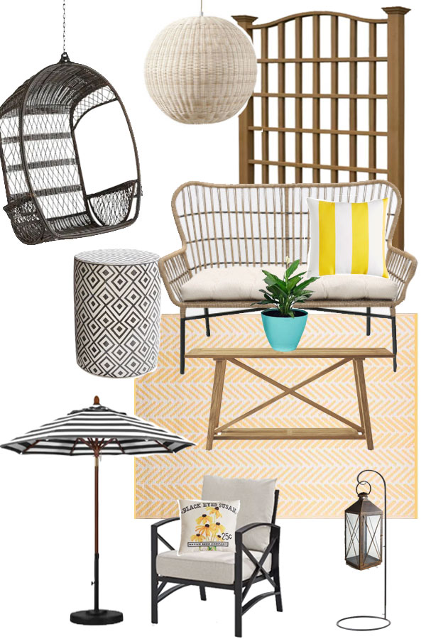 Outdoor furniture and decor ideas for your porch or patio!