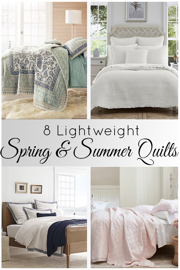 Refresh your bedroom for the warmer months with our favorite spring and summer quilts