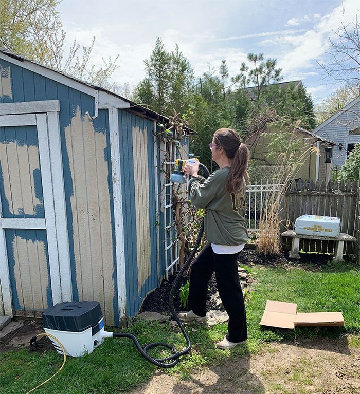 using-a-paint-sprayer-on-a-painted-shed