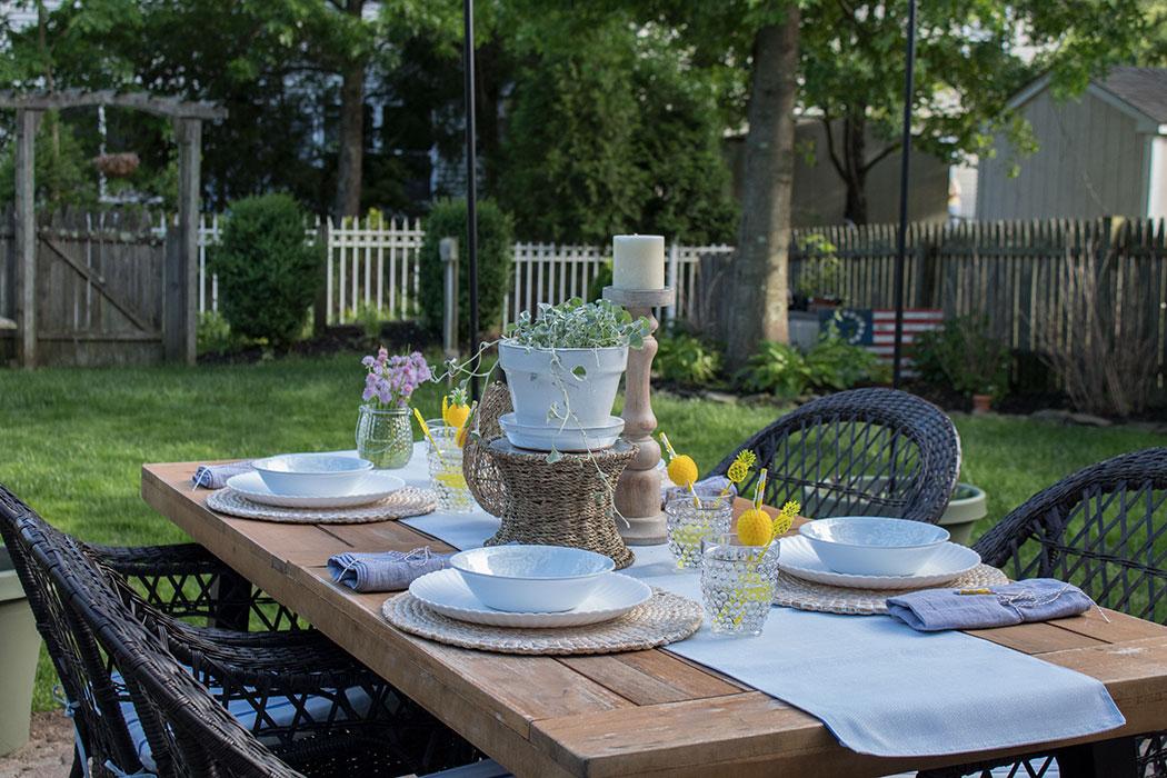 backyard patio cushions and decor