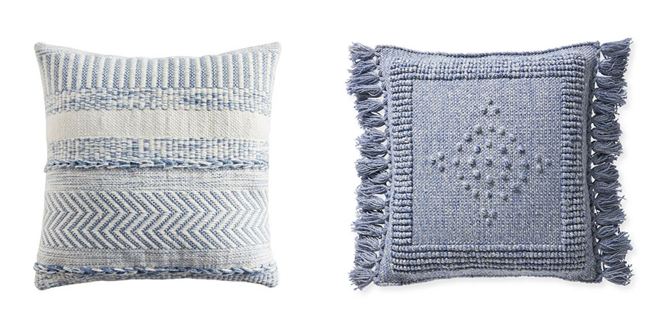 beautiful-blue-throw-pillows-with-texture-and-fringe