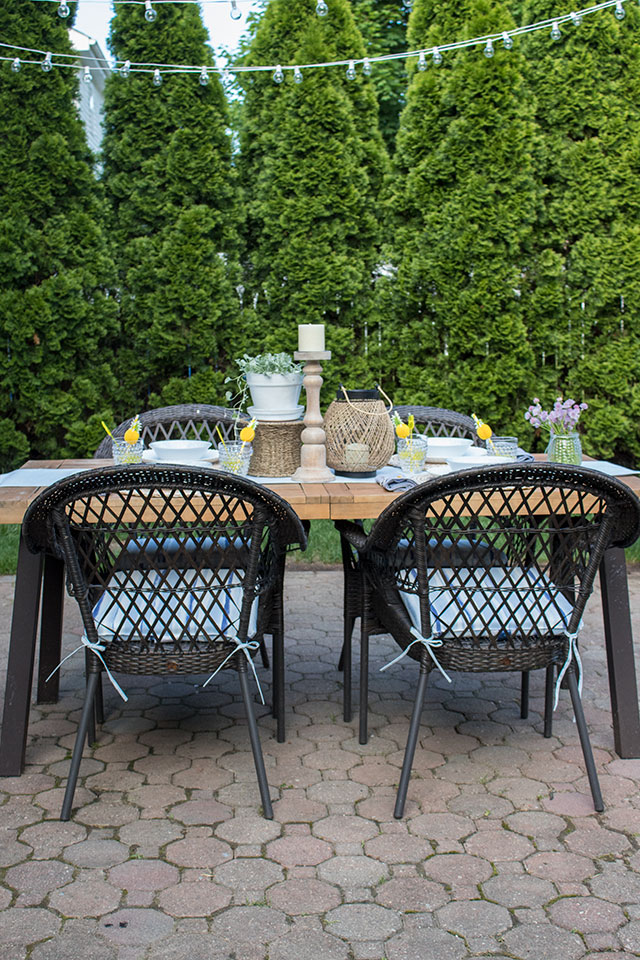 patio cushions and outdoor decor