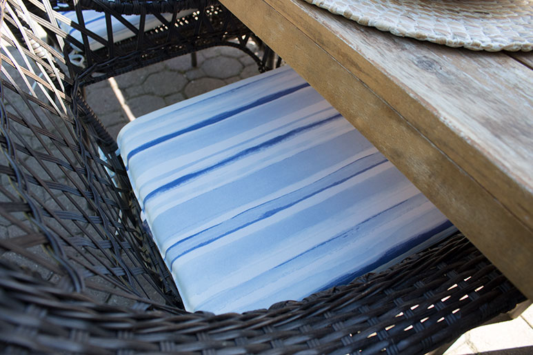 affordable blue and white patio chair cushions