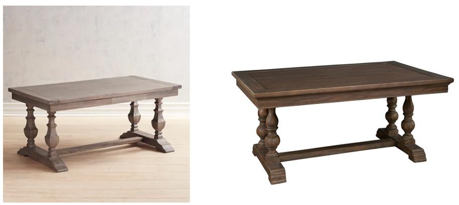 trestle coffee table splurge vs save