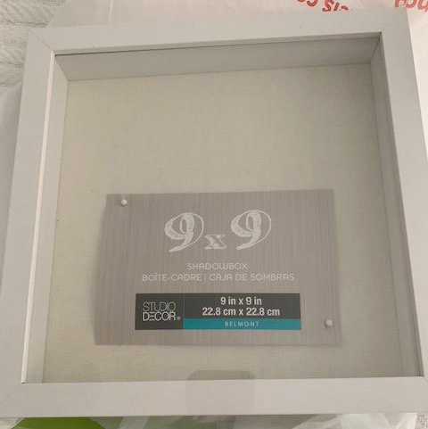 9 x 9 shadowbox frame white