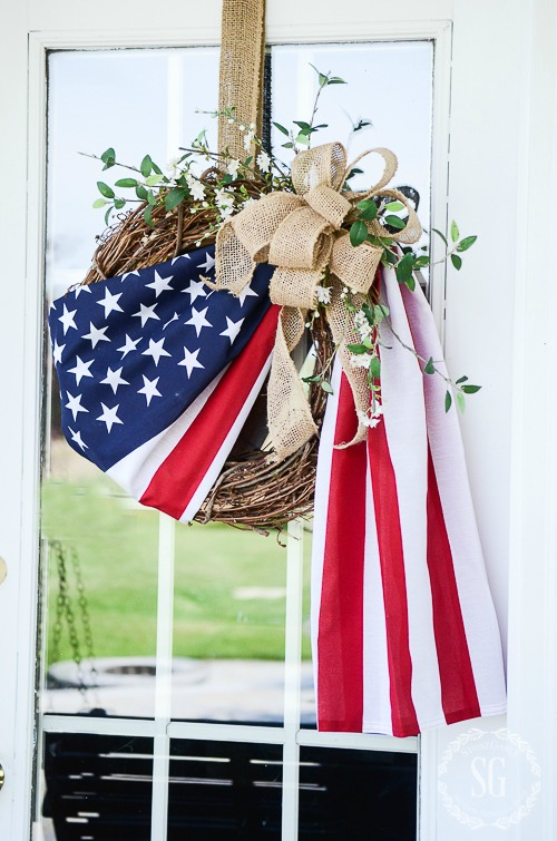 Flag wreath old glory american flag stone gable blog