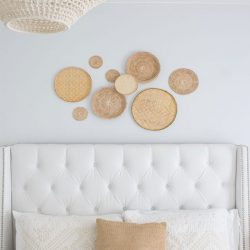 how to hang a gallery of wall baskets FI