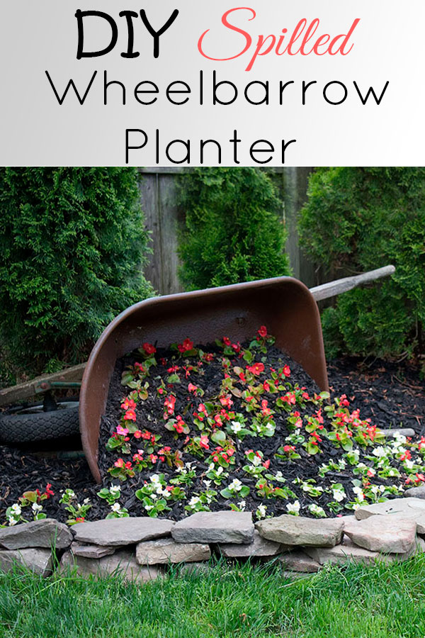This wheelbarrow planter is such a cute idea, be sure to read how to prep the inside before turning it into a planter!