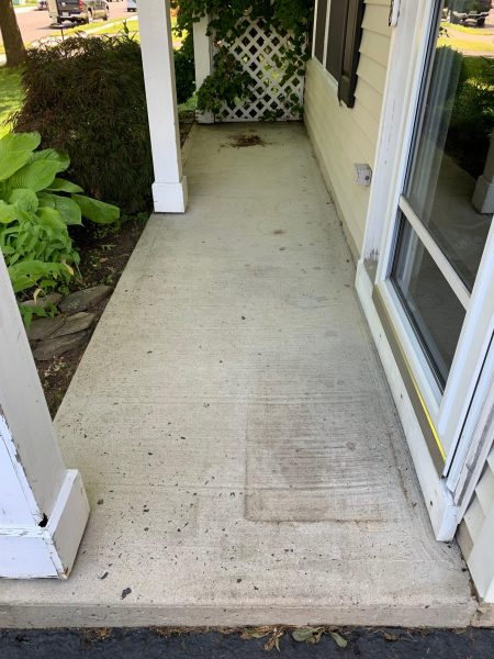 Porch Floor With Concrete Paint