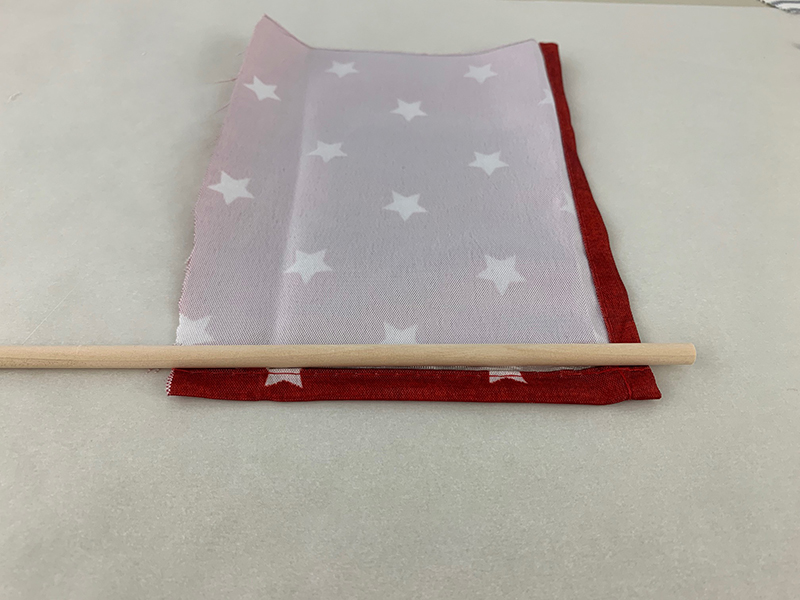 red, white and blue mini american flag for the fourth of july