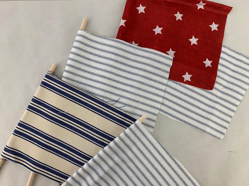 DIY Mini american flag vintage style