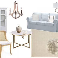Liv Room Design Board FI2