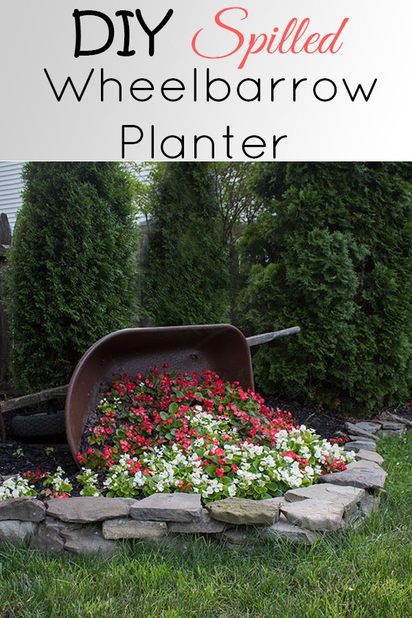 This wheelbarrow planter is such a cute idea for your garden or landscape, be sure to read this to learn how to prep the inside to prevent rot from constant watering!