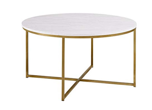 designer look faux marble coffee table