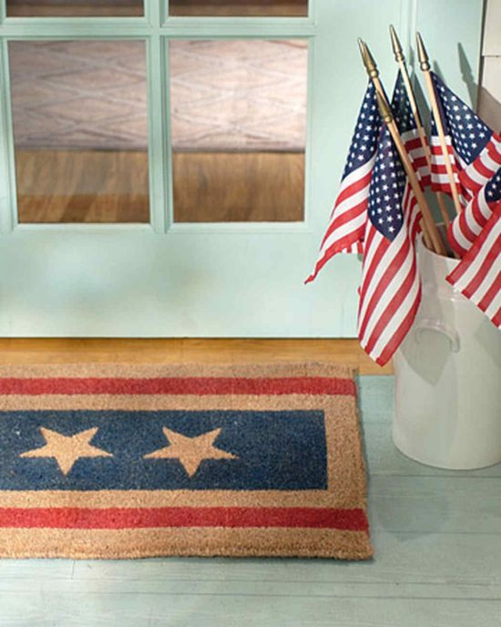 fourth of july diy doormat
