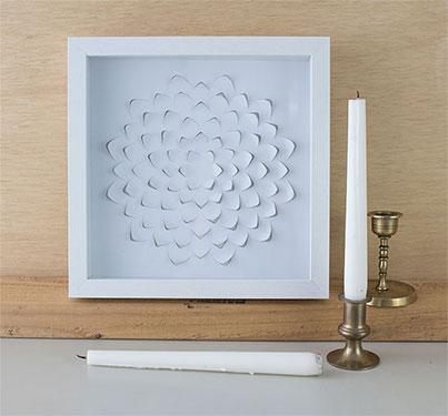 DIY Laser Cut Paper Wall Art