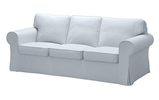 light blue sofa cover
