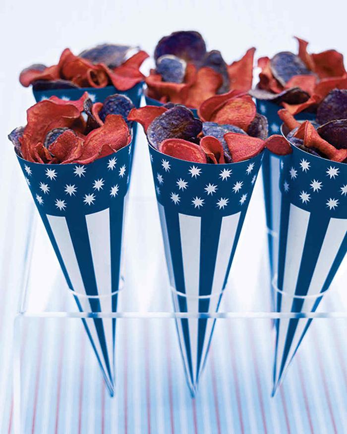 patriotic paper cones