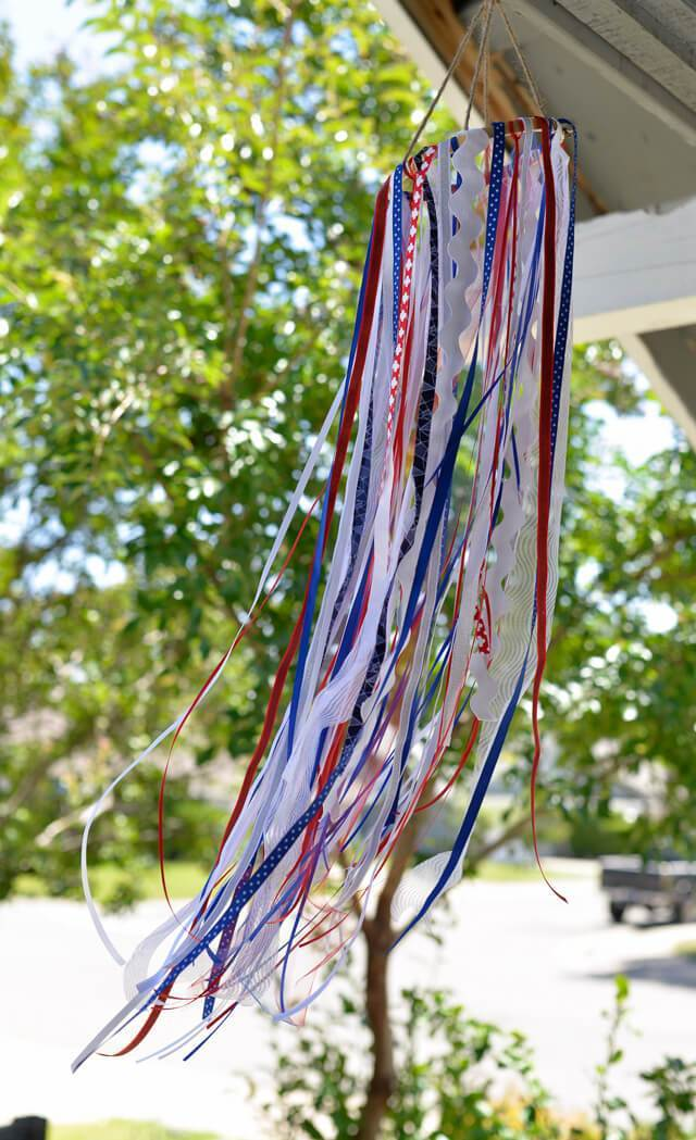 patriotic windsock decoration