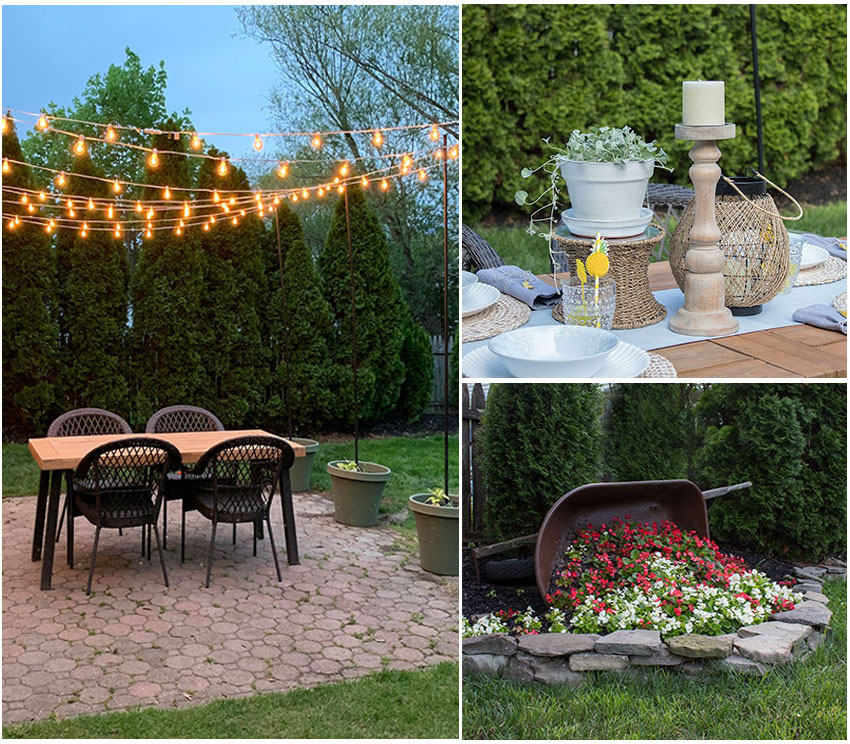 Backyard and Patio Decorating Ideas The Honeycomb Home