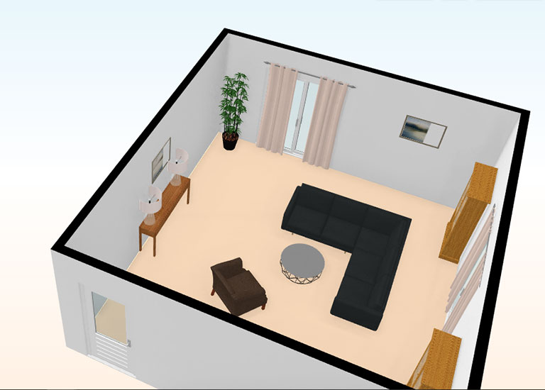 living room elevations