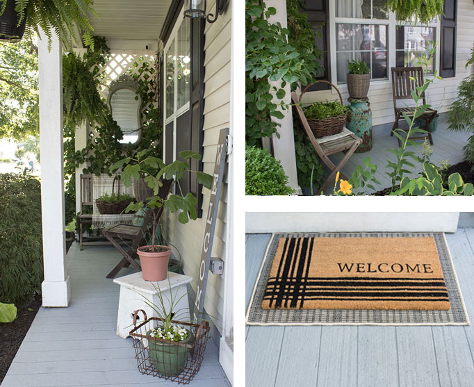 Small Front Porch Decorating Ideas The Honeycomb Home