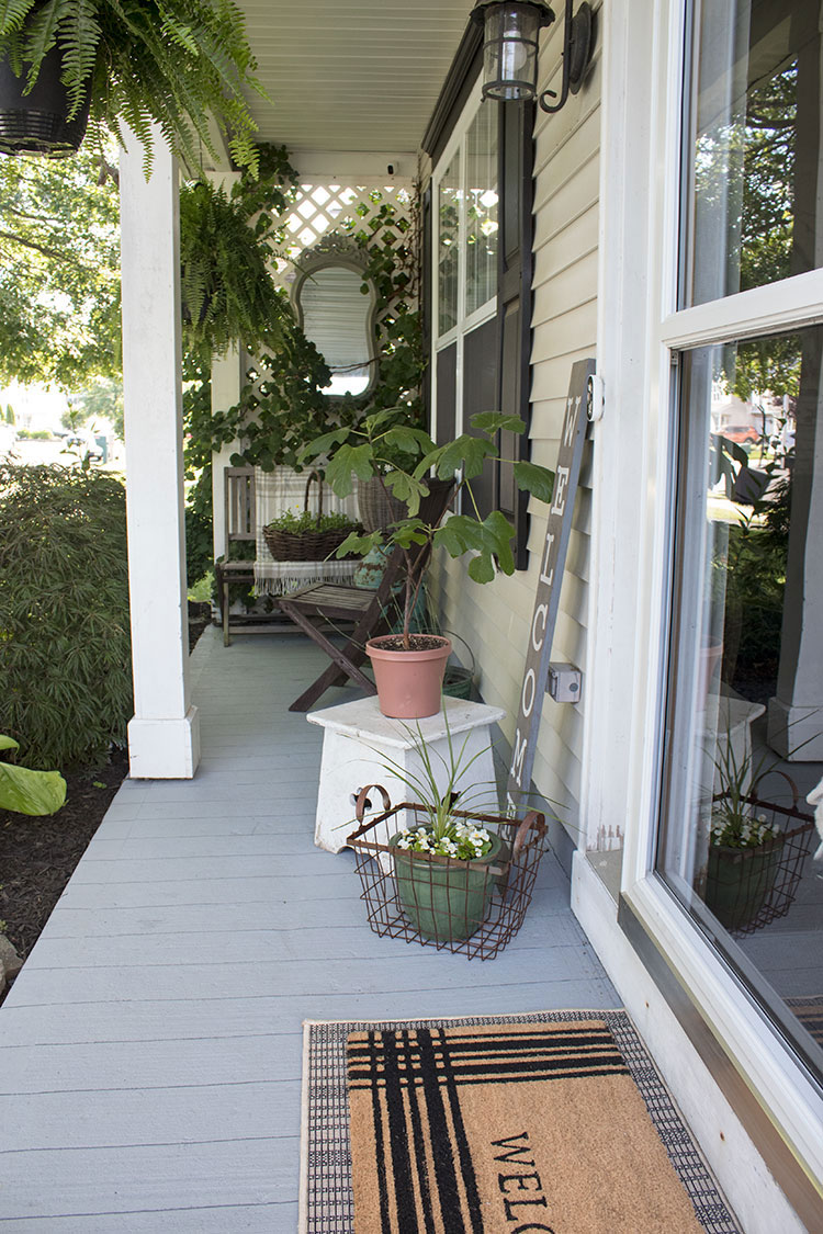 How To Paint A Porch Floor With Concrete Paint The Honeycomb Home