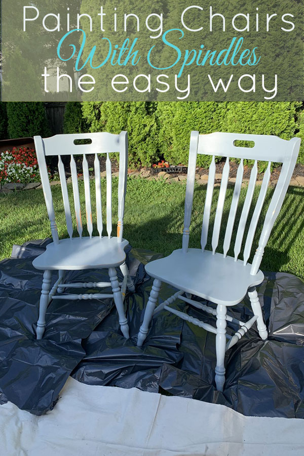 Friends don't let friends paint spindle chairs with a brush, save yourself hours and do it the easy way!