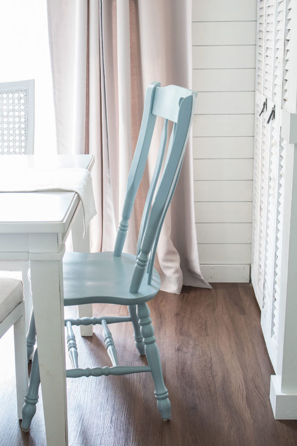blue kitchen dining chairs